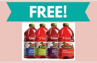 FREE – FULL SIZE – Old Orchard 64 Oz. Bottle!