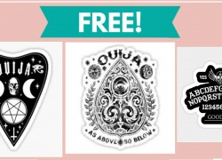 TOTALLY FREE Ouija Board Stickers!