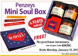 100% FREE Penzeys Soul Mini Box – ENDS MONDAY !