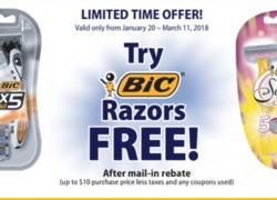 FREE BIC Disposable Razors after Mail-In Rebate