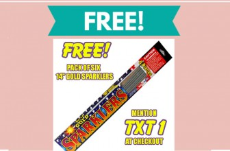 FREE 6 Pack of Sparklers! Run!