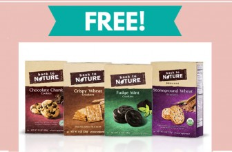 Free Full Size Back to Nature Cookies or Crackers!