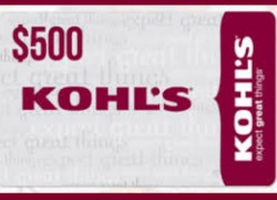 Enter To Win a $500 KOHLS Gift Card!