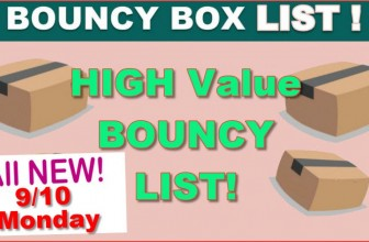 HIGH VALUE BOUNCY BOX LIST – EVERYTHING WORTH $50 or MORE! 9/10