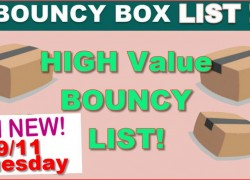 HIGH VALUE BOUNCY BOX LIST – EVERYTHING WORTH $50 or MORE! 9/11