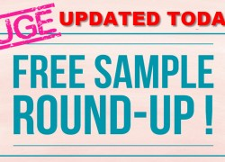 HUGE – FREE Samples By Mail ROUND UP! UPDATED TODAY!