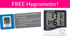 FREE Desk Hygrometer and Thermometer !
