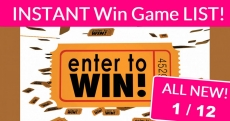 ALL NEW = HUGE List of Instant Win Games! All New 1/12!