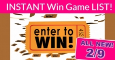 NEW Instant Win Games = NEW TODAY = 2/9/2020!