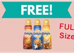 Totally Free – FULL SIZE – International Delight Coffee Creamer!