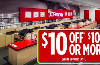 TODAY ONLY! $10 Off $10 At JCPenney – While Supplies Last!