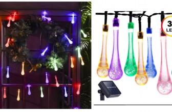 20 Feet 30 LED Waterproof Crystal Raindrop LIGHTS! ONLY $5.99 !!!!