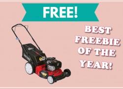 TOTALLY Free Craftsman Lawnmower! – BEST FREEBIE OF THE YEAR!