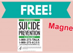 LOVE This! Totally FREE National Suicide Prevention Lifeline magnet!