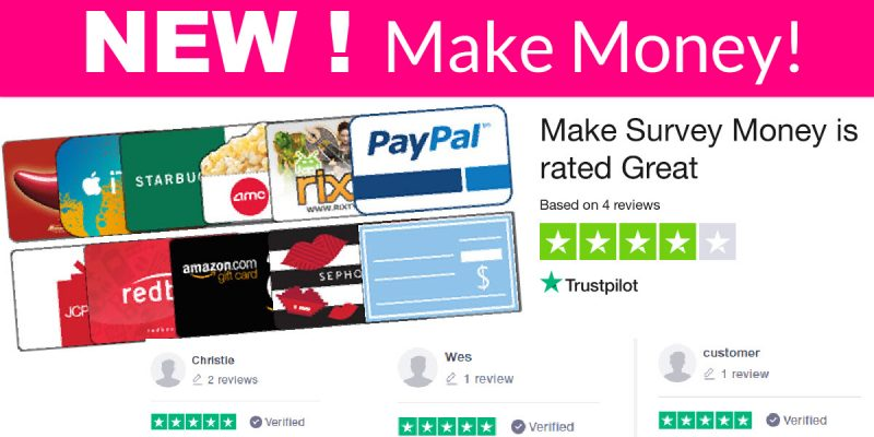 NEW! Make Money Survey ! HIGHLY RATED!