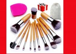 Save 74% off Set of 12 Bamboo Makeup Brushes!!