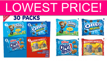 LOWEST PRICE! Nabisco 30 Packs & FREE Shipping!