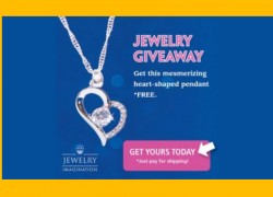 Get a FREE Heart-Shaped Pendant! Pay ONLY For Shipping!