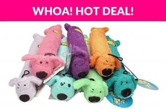 Multipet Loofa Dog Plush Dog Toy