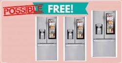 RUNNN! POSSIBLE Free LG Smart Refrigerator !