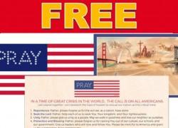 FREE Pray Bumper Sticker