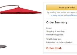 WHOA! Patio Umbrella $33.00 ! ( Reg. $110 ) !!!