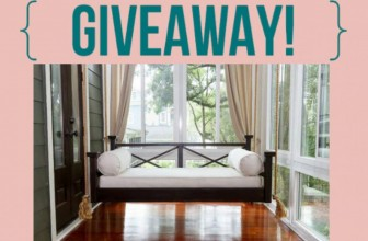Enter to Win a Hanging Porch Swing Bed!