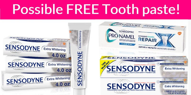 Possible FREE Sensodyne Toothpaste!