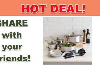 LAST DAY! 12-Piece Stainless Steel Cookware Set AND Peeler Just $4 !