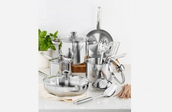 Stainless Steel 13-Pc. Cookware Set ONLY $21.99 ( Reg. $119.99 ) !