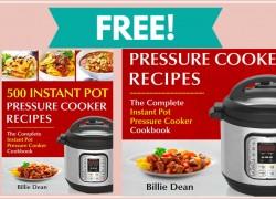 FREE Instant Pot Pressure Cooker Recipes