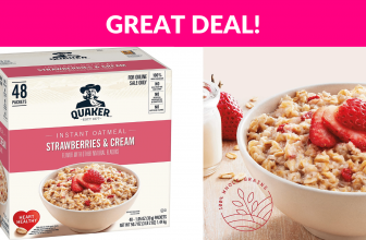 Quaker Instant Oatmeal, Strawberries and Cream