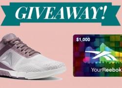 Win a $1,000 Reebox Gift Card !