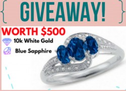ENTER TO WIN A Blue Sapphire 10k White Gold Ring Worth $500