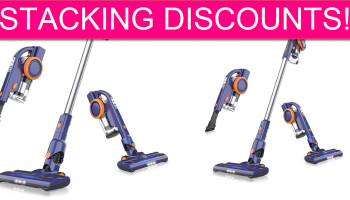 STACKING Discounts on Cordless Stick Vacuum!