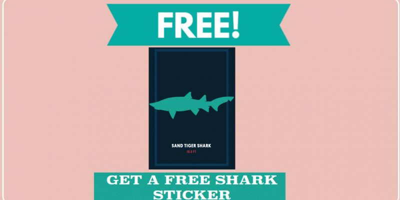 Totally FREE Shark Sticker!