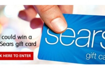 HURRY! Win a  $100 Sears Gift Card ! Ends 12/ 18  !