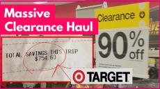Massive Target Clearance Haul = 90% Off ! [ I Saved $754 ! ]
