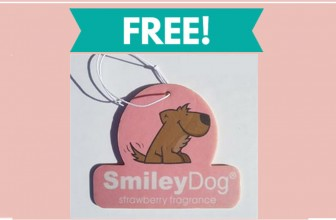 TOTALLY FREE Smiley Dog® air freshener For Your Car!