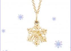 WIN A Helen Ficalora 14k Yellow Gold Snowflake ( Worth $310 ) – 5 Winners!