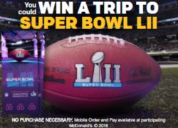 McDonald's Mobile Order & Pay Sweepstakes 2/4 1PPD13+
