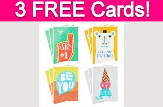 3 Free Hallmark Greeting Cards!