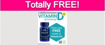 Totally Free Bottle of Vitamin D!