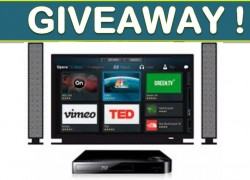 Win a T.V, Blue Ray Player and Video!