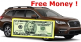 Totally FREE $50 for TEST DRIVING A SUBARU !