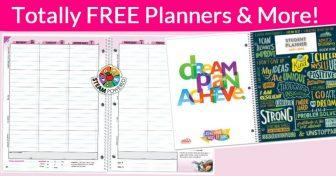 FREE School Planners,  folders, or a wall calendar!