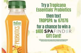 [50 WINNERS] Tropicana Probiotic Sweepstakes