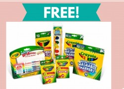 FREE  Ultimate Crayola Bundle Freebie!