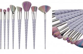 HOT ! HOT ! SET OF 10 Unicorn Make-up Brushes ONLY $5.00 SHIPPED!