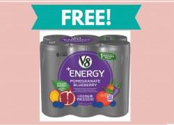 FREE V8 +Energy 8oz 6-Pack